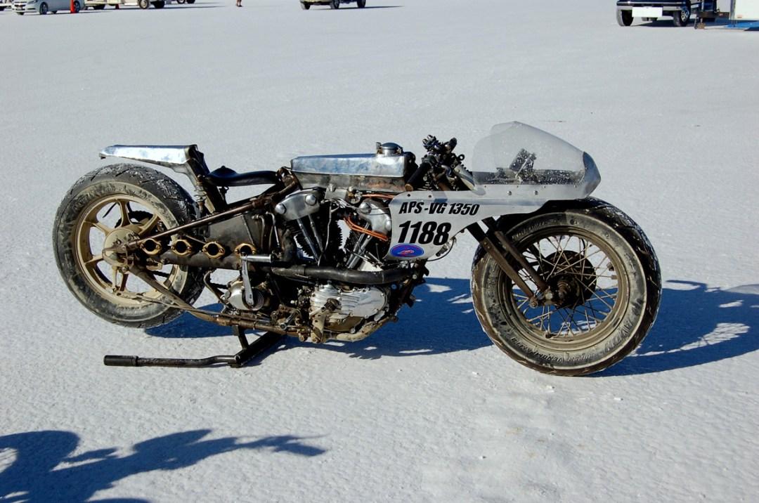 Bonneville Salt Flats :: 1946 Harley-Davidson