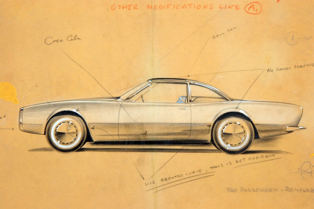Raymond Loewy Studabaker Avanti Concept Drawings :: March 1961 (1)