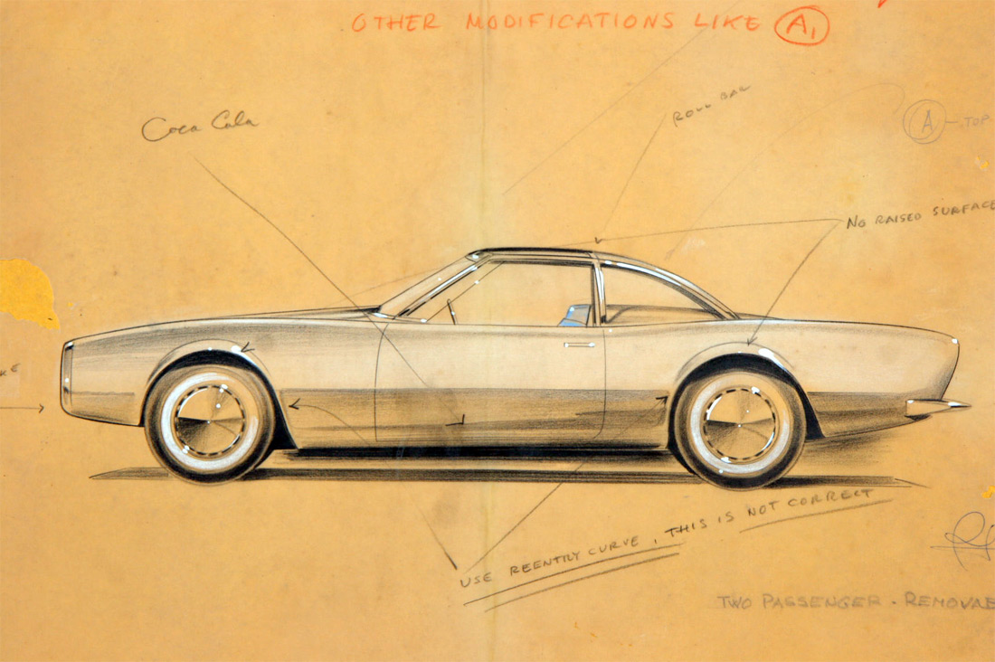 Raymond Loewy Studabaker Avanti Concept Drawings :: March 1961 (1)