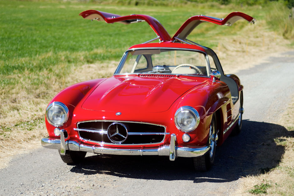 1955 mercedes benz 300sl gullwing spirited automobiles for Mercedes benz gullwing 1955 for sale