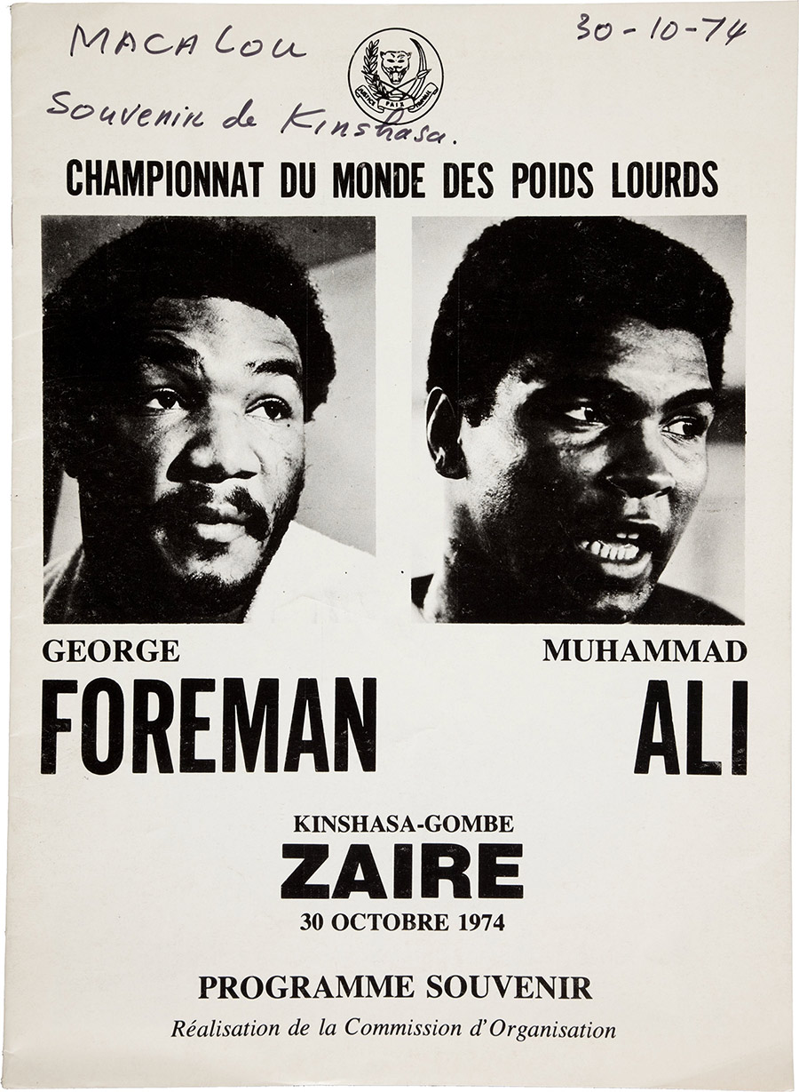 "1974 Ali vs. Foreman ""Rumble in the Jungle"" On-Site Fight Program"