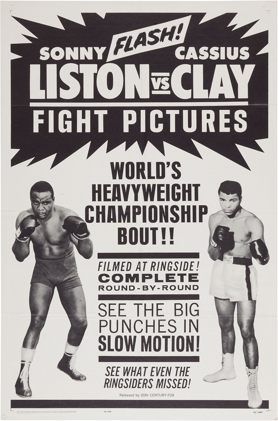 1964 Clay vs. Liston Fight Film Poster :: Heritage Auctions