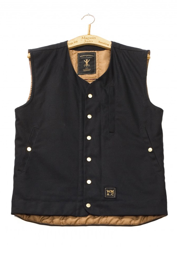 Wrench #2. MC Waistcoat Black :: Wrenchmonkees