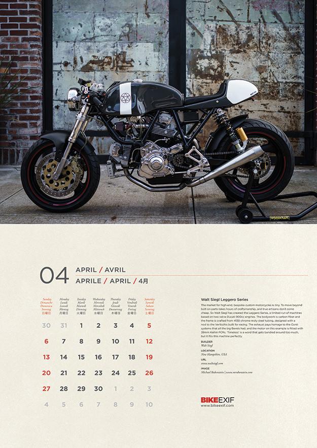 Bike EXIF Calendar 2014