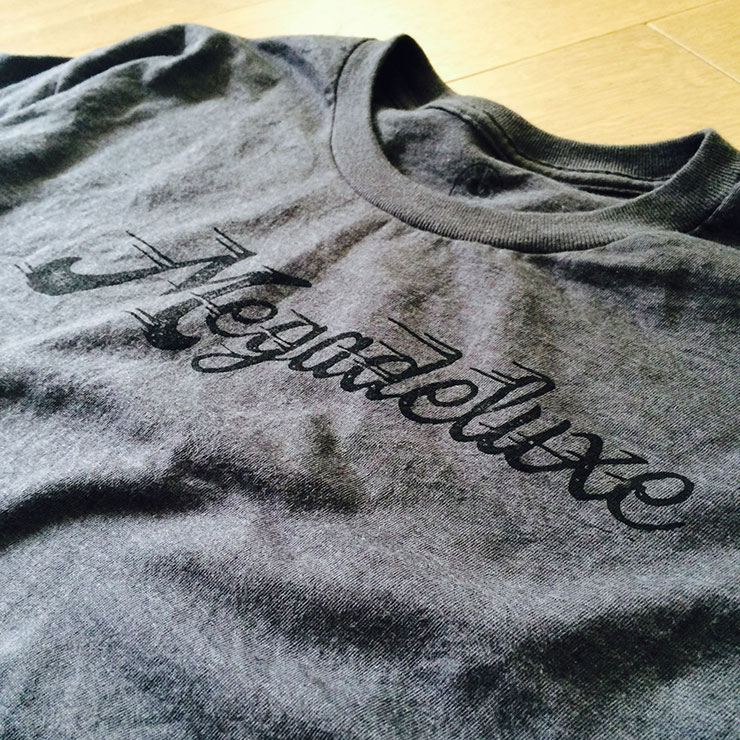Megadeluxe Rubber Stamped T-Shirt: Perfect Imperfection
