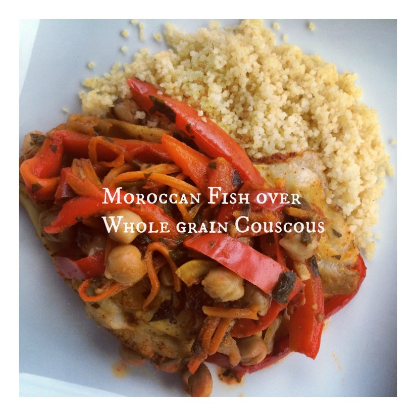 Moroccan Fish over Whole Grain Couscous