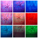 Ohuhu® Ocean Wave Night Light Projector Collage of Colors