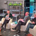 Gesprächsrunde zum Probenauftakt unter Moderation von Tim Thoelke. Foto: Ansbert Maciejewski