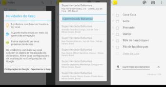 Google Keep para Android ganha lembretes por hora e geolocalização e integração com o Now