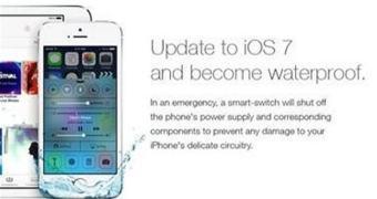 Para surpresa de vários poríferos, upgrade pro iOS 7 não torna seu iPhone à prova d'água.
