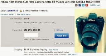 Uma Nikon N80 por US$ 95.000,00