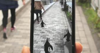 GPS de Realidade Aumentada usa pinguins para ensinar o caminho até aquário de Tóquio