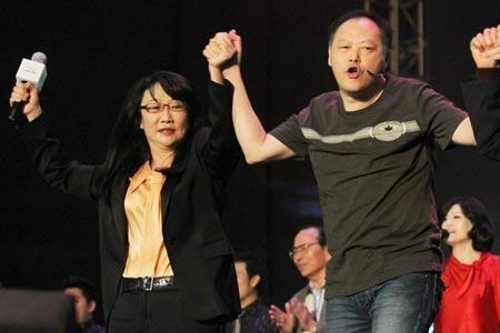 Co-fundadores da HTC, a diretora Cher Wang e o CEO Peter Chou