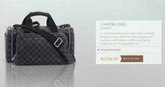 Bolsa para câmera da Louis Vuitton custa US$ 3.500