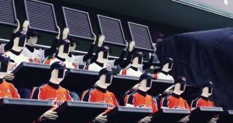 Que tal um robô para torcer por você no estádio?