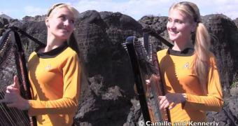 As Gêmeas Harpeiras tocam Star Wars