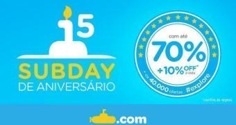 Aniversário do Submarino traz ofertas com até 70% de desconto!