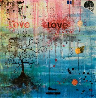 Mel Barrett Art The Loving Tree
