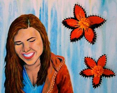 Mel Barrett Art Thinking Of You Makes Me Smile