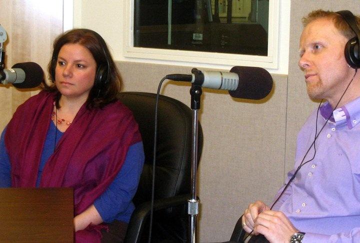 Missy Gluckmann and Arnd Wachter being interviewed in Virginia.
