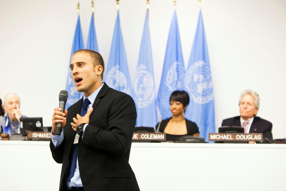 Melibee speaker, Chris Bashinelli, at the United Nations