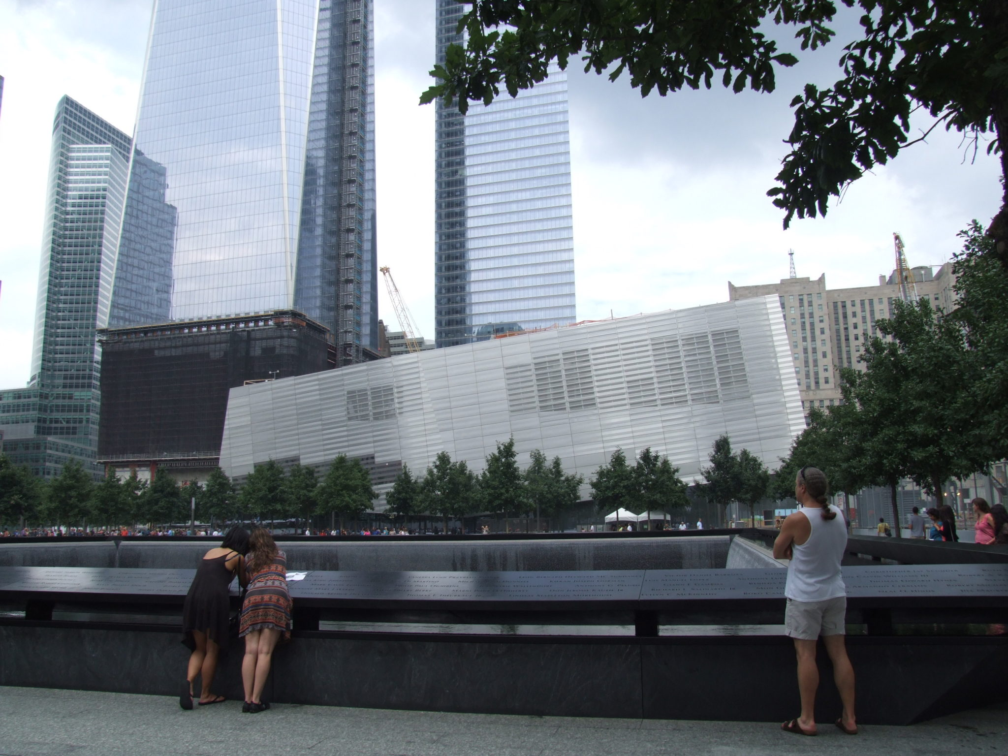 This is the 9/11 museum - it won't be ready until 2013 or 2014...depending on the politics in New York. It is meant to represent the rebuilding.