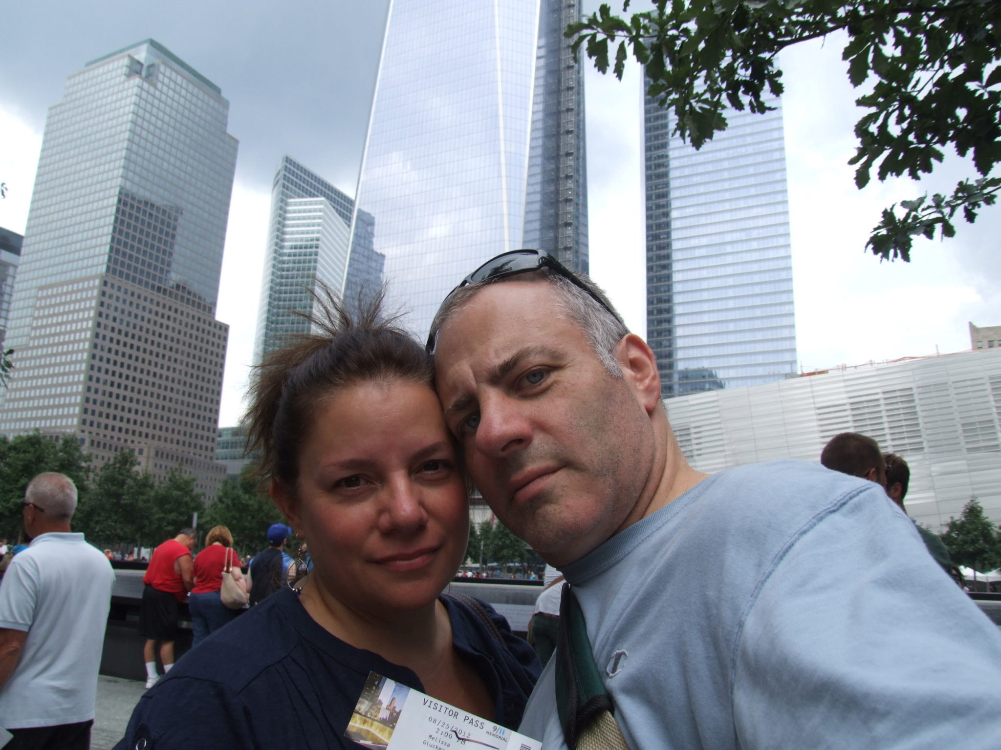 Tony and I standing in front of the Freedom Tower.  We will remember this visit for a very long time.
