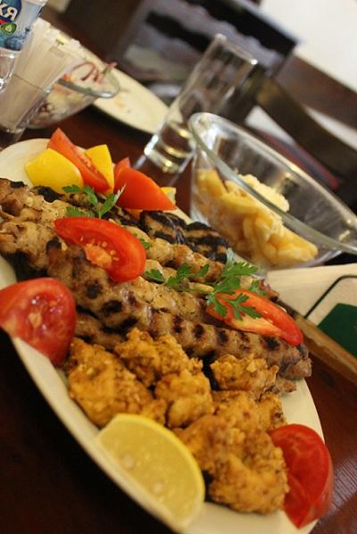 Traditional Bulgarian grill: kebabche & kiufte (Photo courtesy of Sandra Ionescu)