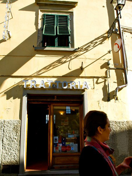 My travel buddy Kathleen in front of the hidden trattoria we found. This is exactly where you want to seek out an authentic  meal.