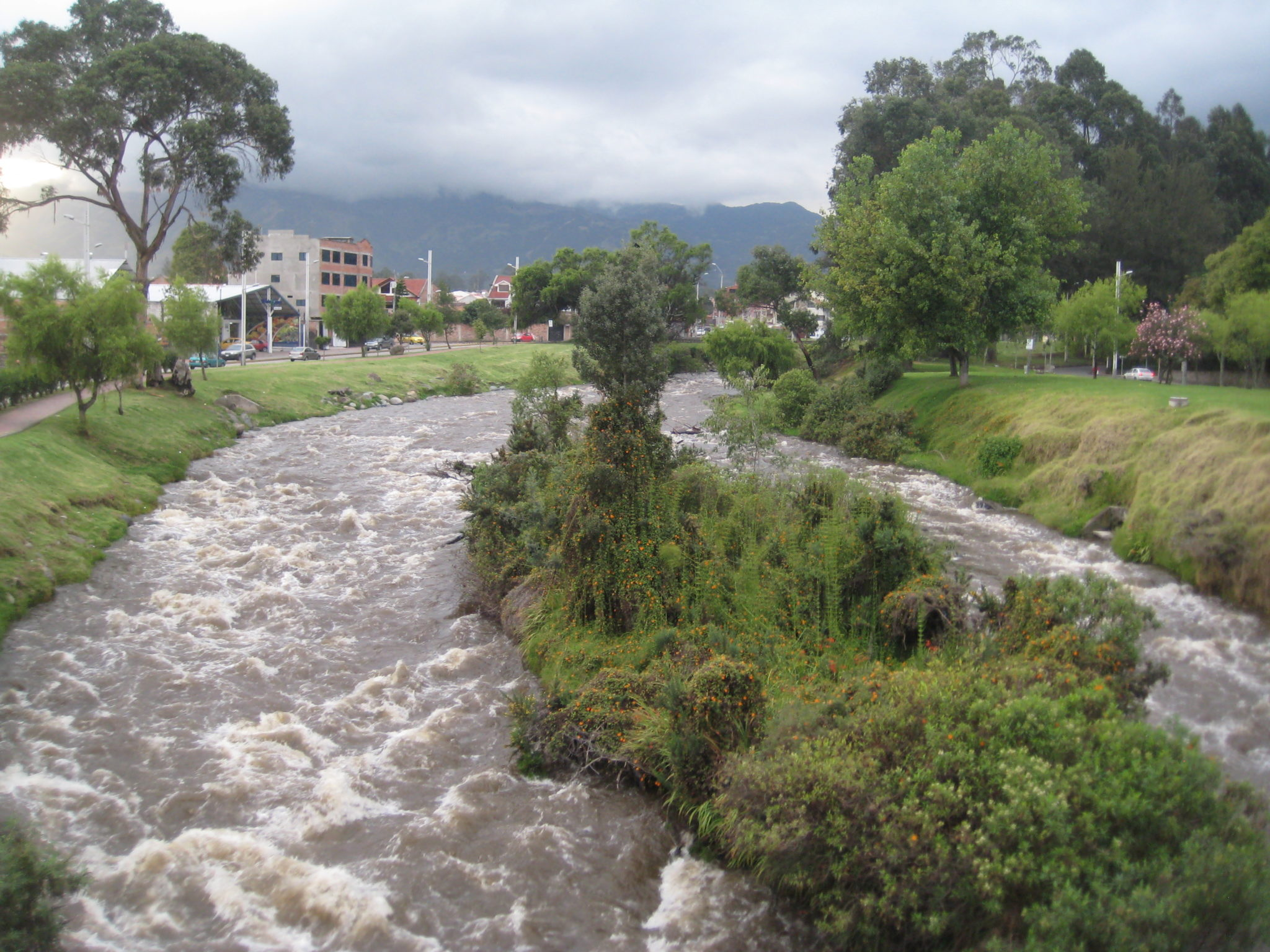 The Tomebamba River in Cuenca.