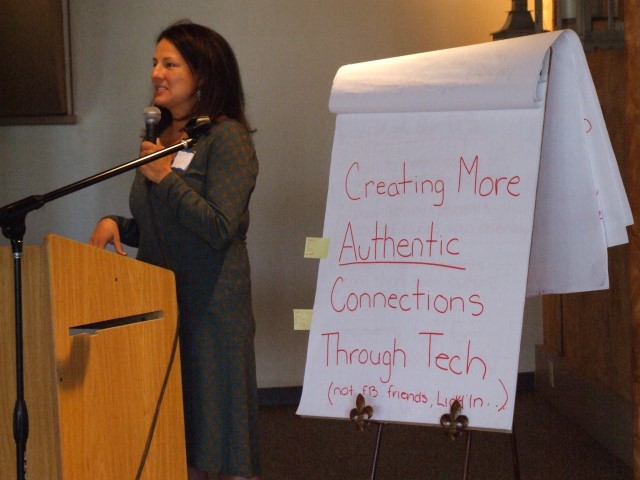 Tara Nygaard presents on authentic technology at the Melibee Swarm (2014)