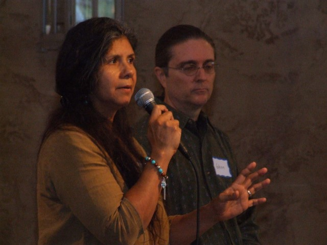 Maria and Glenn facilitate Indigenous introductions.