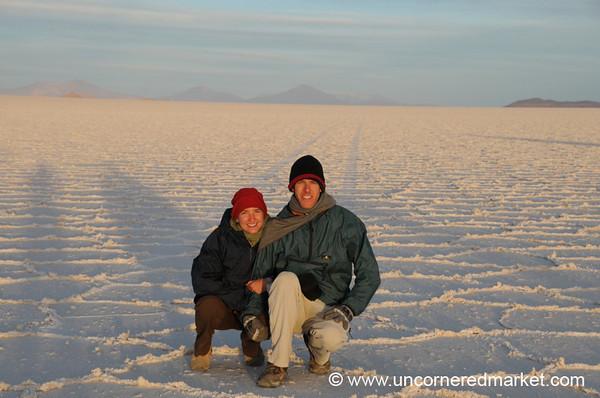 A cold day in the Salar de Uyuni (desert), Bolivia
