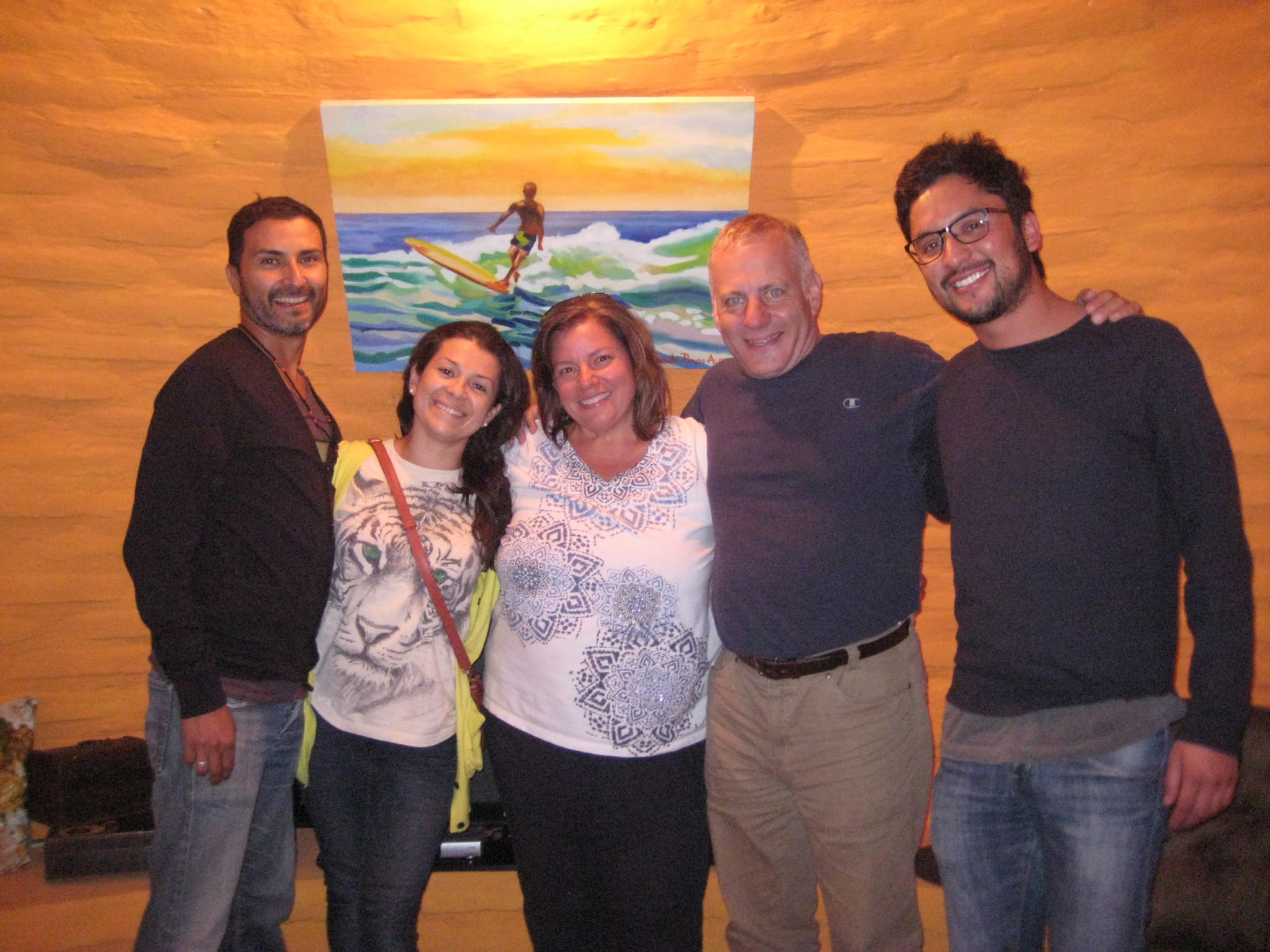 Simon, Maria Olga, Me, my husband Tony, and Mario met up in Quito before our flight.