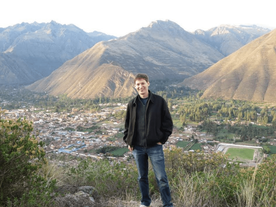 Traveling:  Brad above Urumbamba in the Sacred Valley of the Incas, Peru
