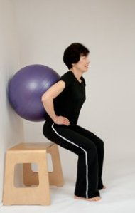 Video: Wall and Ball Squat for Beginner