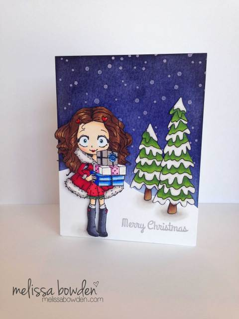 Dollie With Gifts Card- Melissa Bowden