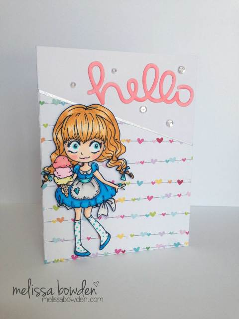 Dollie With Ice-Cream Card- Melissa Bowden