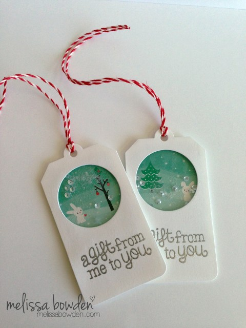 Shaker Gift Tags- Melissa Bowden