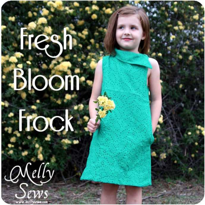 Fresh Bloom Frock Dress Sewing Pattern by Melly Sews