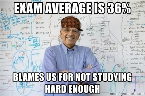 Image result for not study hard and blaming exam