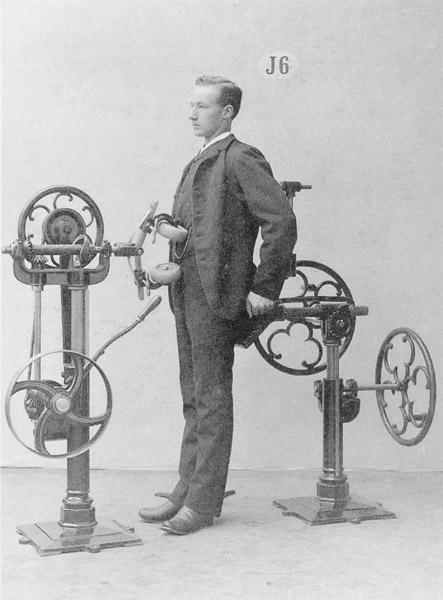 Gustaf Zander's Passive Abdominal Exerciser, c. 1892 Photograph
