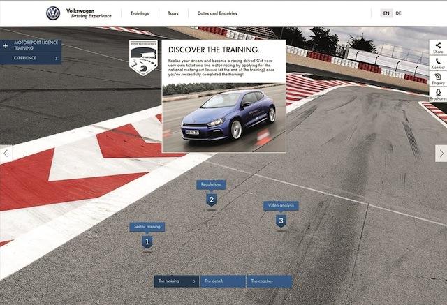 """El sitio """"Volkswagen Driving Experience"""" llega a la web"""