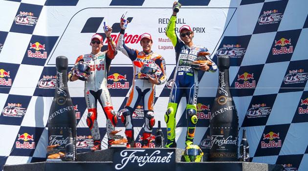 Momentos emocionantes en el Moto GP de Laguna Seca
