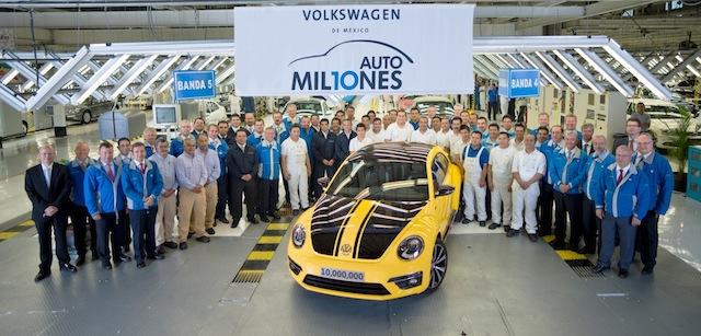 Volkswagen celebra la producción de 10 millones de automóviles  en México