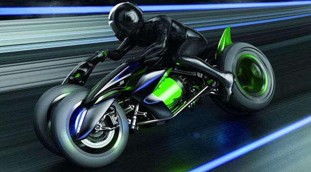 Kawasaki J Three Wheeler EV, ¿serán así las motos del futuro?