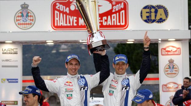 """Los Ganadores de """"Monte"""", Ogier/Ingrassia celebran su victoria en Mónaco"""