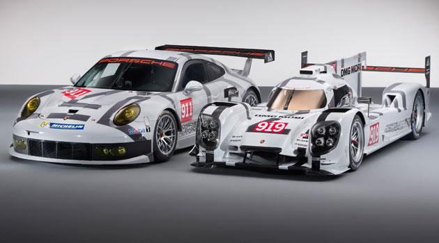 Porsche 919 Hybrid y el 911 RSR en el Salón de Ginebra