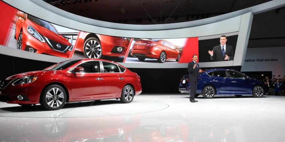 Nissan Sentra 2017, listo en Los Ángeles