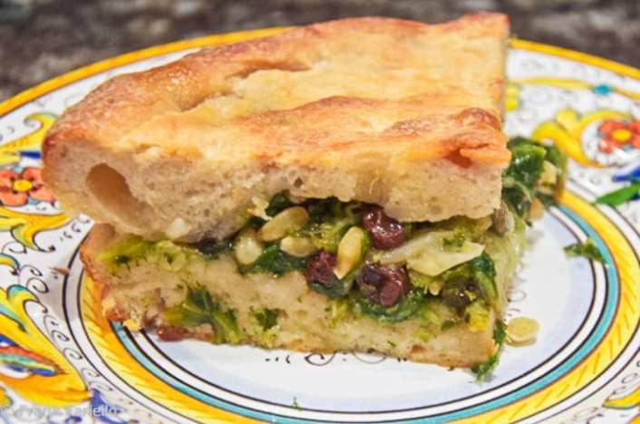Pizza di scarola (Escarole Pie)